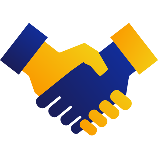 An illustration of two hands clasped in a handshake.